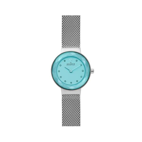スカーゲン レディース 腕時計 アクセサリー Leonora Stainless Steel Mesh Bracelet Watch Aqua