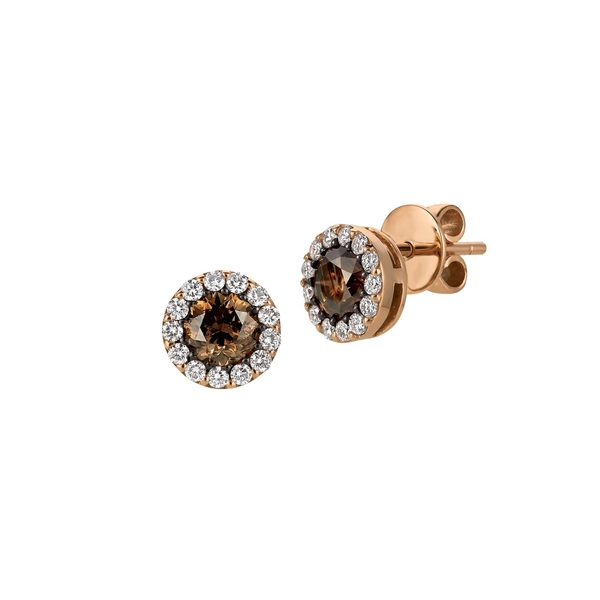 ルヴァン レディース ピアス&イヤリング アクセサリー Chocolatier® Chocolate Diamonds®, Vanilla Diamonds® & 14K Strawberry Gold® Earrings Rose Gold