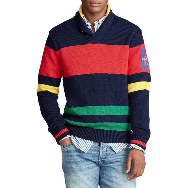 ラルフローレン メンズ ニット&セーター アウター Regular Fit Striped Cotton Shawl Sweater Multi