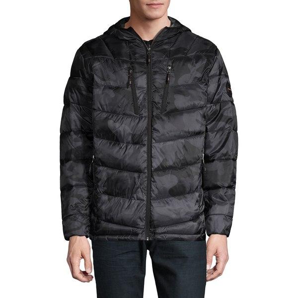 ハウクアンドコー メンズ ジャケット&ブルゾン アウター Camouflage Quilted Packable Jacket Black Camo