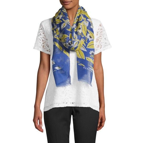 マックマーラ レディース マフラー・ストール・スカーフ アクセサリー Floral Print Scarf Blue Multi