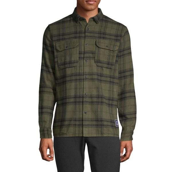 ジャック アンド ジョーンズ メンズ シャツ トップス Madras Plaid Flannel Shirt Forest Night