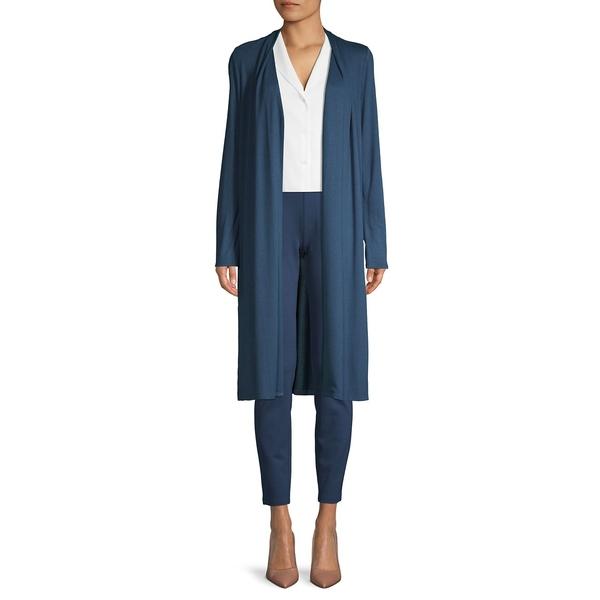 エイチ ホルストン レディース ニット&セーター アウター Long-Sleeve Pleated Cardigan Storm Blue