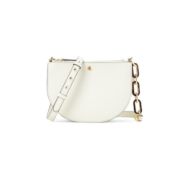 ラルフローレン レディース ショルダーバッグ バッグ Pebbled Leather Crossbody Bag Cream