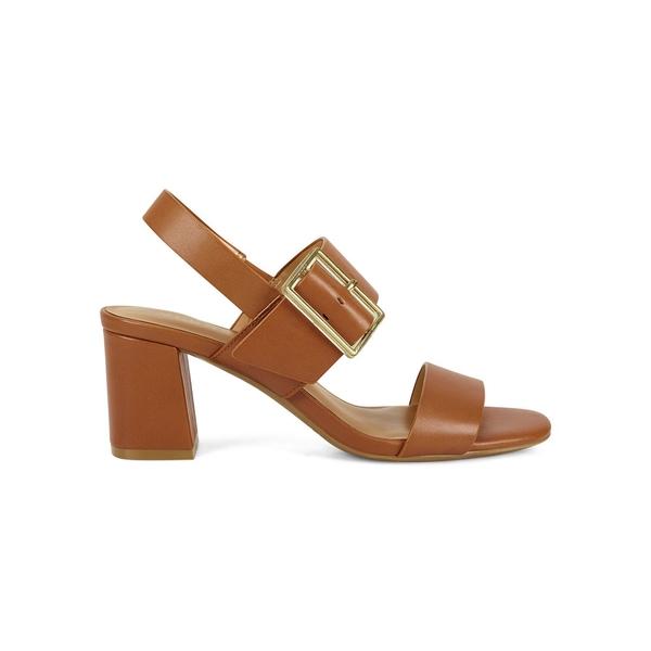 エアロソールズ レディース パンプス シューズ Essex Leather Slingback Sandals Tan