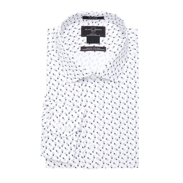 ブラック・ブラウン1826 メンズ シャツ トップス Pineapple Printed Dress Shirt White