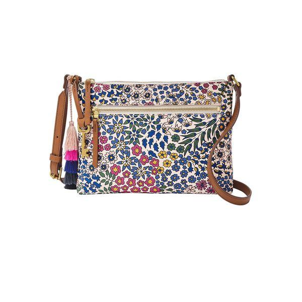 フォッシル レディース ショルダーバッグ バッグ Fiona Floral PVC Crossbody Bag Floral