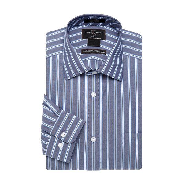 ブラック・ブラウン1826 メンズ シャツ トップス Striped Button-Down Shirt Blue