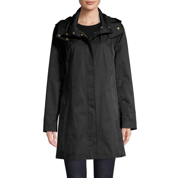 コールハーン レディース コート アウター Hooded Cotton-Blend Raincoat Black