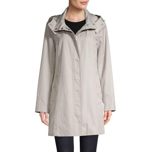 コールハーン レディース コート アウター Hooded Cotton-Blend Raincoat Pearl