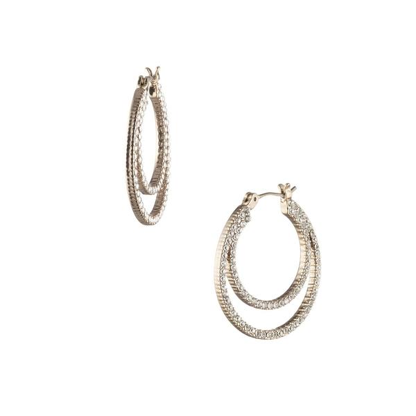 ジバンシー レディース ピアス&イヤリング アクセサリー Goldtone Titanium & Crystal Hoop Earrings Gold