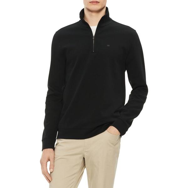 カルバンクライン メンズ ニット&セーター アウター The Classic Quarter-Zip Sweater Black