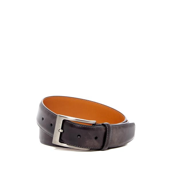 メンズ アクセサリー GREY Belt Leather Square ベルト マグナーニ Buckle