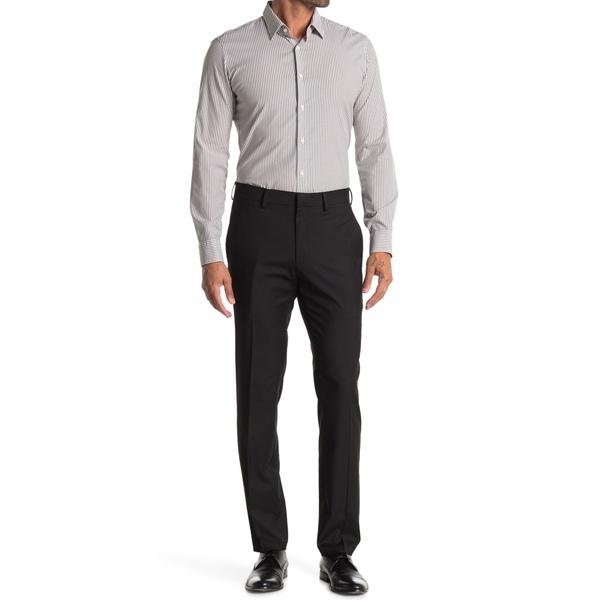 【まとめ買い】 ケネスコール メンズ カジュアルパンツ ボトムス Stretch Texture Weave Slim Fit Flex Dress Pants BLACK, modello luxury 12b322eb