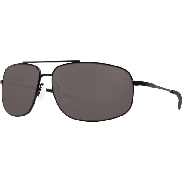 コスタ メンズ サングラス・アイウェア アクセサリー Costa Shipmaster Polarized Sunglasses - 580 Polycarbonate Lens Satin Black Gray 580p