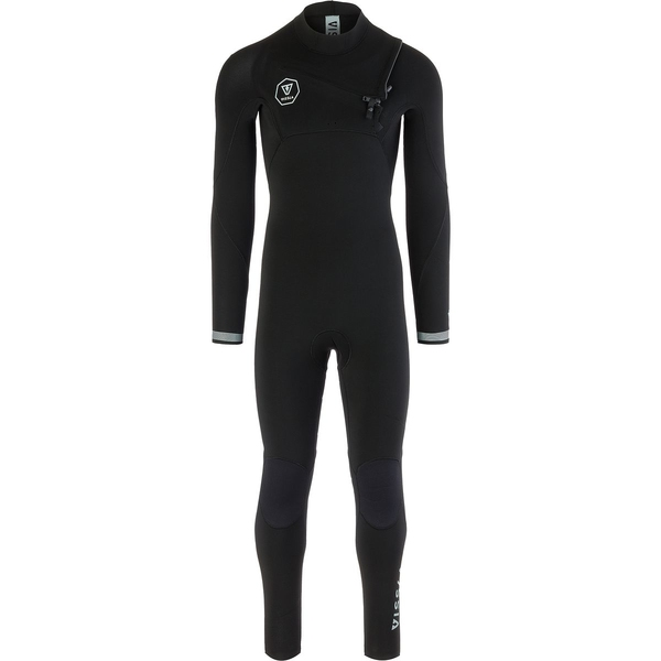 【オープニング大セール】 ヴィスラ メンズ サーフィン スポーツ The The 7 Seas 3/2 メンズ Chest Chest Zip Wetsuit - Long-Sleeve Black Fade, BFLAT:cb1dafb4 --- asiametresources.com