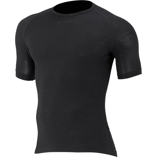 カポ メンズ サイクリング スポーツ Pure Merino Short-Sleeve Baselayer - Men's Black