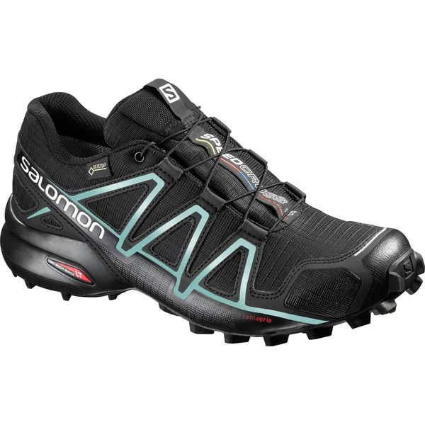 レディース ランニング 4 Women's Shoe - スポーツ Black/Black/Metallic Trail サロモン Blue Bubble Running GTX Speedcross