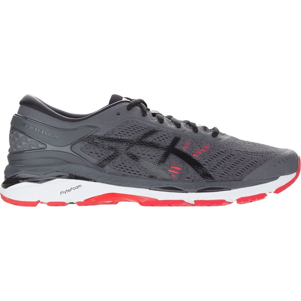 アシックス メンズ ランニング スポーツ Gel-Kayano 24 Running Shoe - Men's Dark Grey/Black/Fiery Red