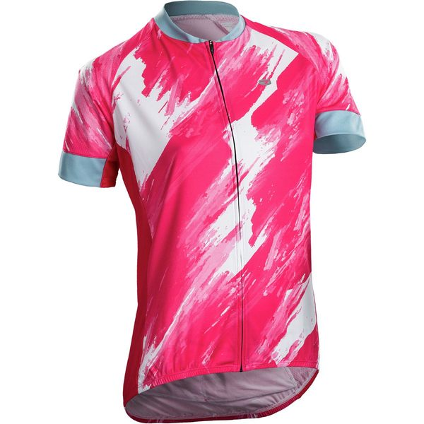 スゴイ レディース サイクリング スポーツ Evolution Zap Jersey - Short-Sleeve - Women's Azalea/Brush Print