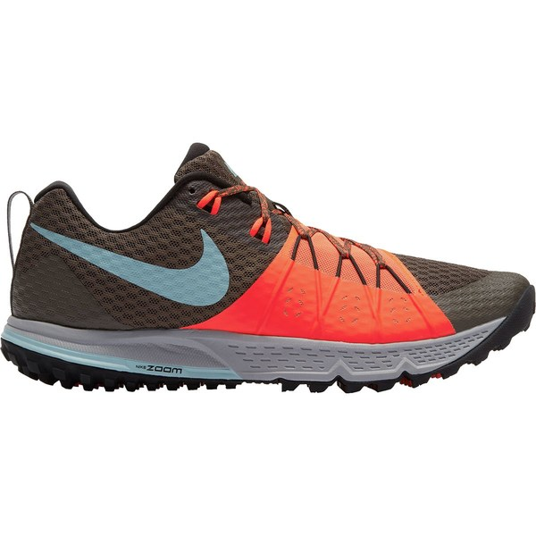 ナイキ メンズ ランニング スポーツ Air Zoom Wildhorse 4 Trail Running Shoe - Men's Ridgerock/Ocean Bliss-Total Crimson