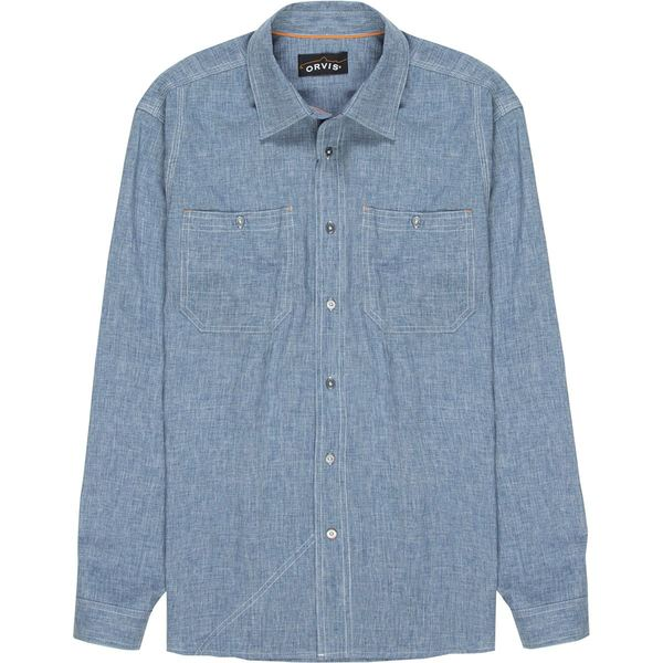 オービス メンズ シャツ トップス Tech Chambray Work Shirt - Men's Blue Chambray