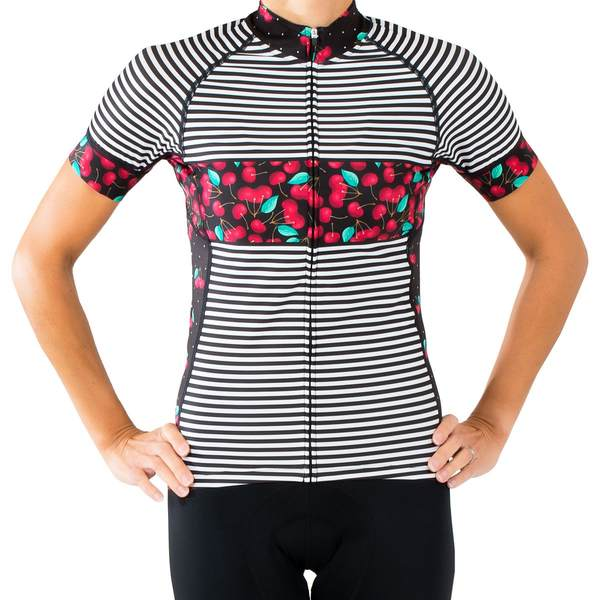 シービースト レディース サイクリング スポーツ Divine Prep School Short-Sleeve Jersey - Women's Cherry Pie Black