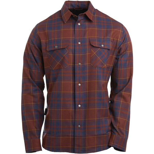 フライロー メンズ シャツ トップス Handlebar Tech Flannel Shirt - Long-Sleeve - Men's Madeira/Pluto/Bear