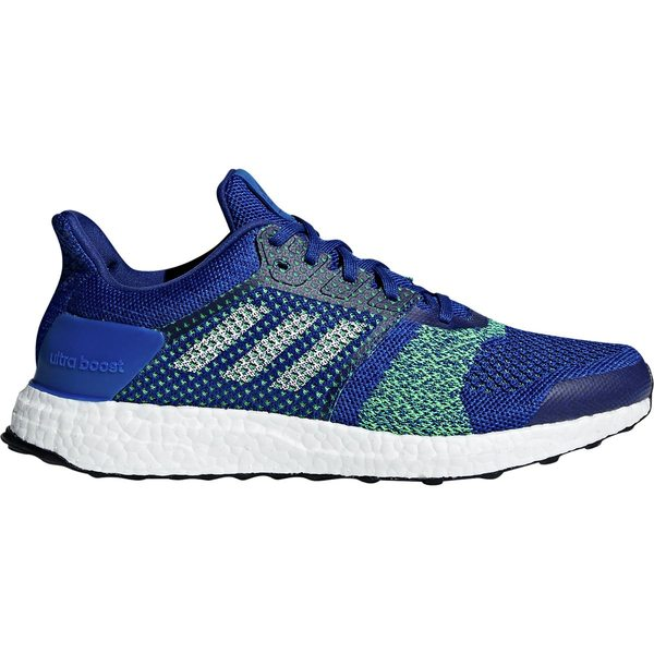 アディダス メンズ ランニング スポーツ Ultra Boost ST Running Shoe - Men's Collegiate Royal/White Tint S18/Shock Lime F18