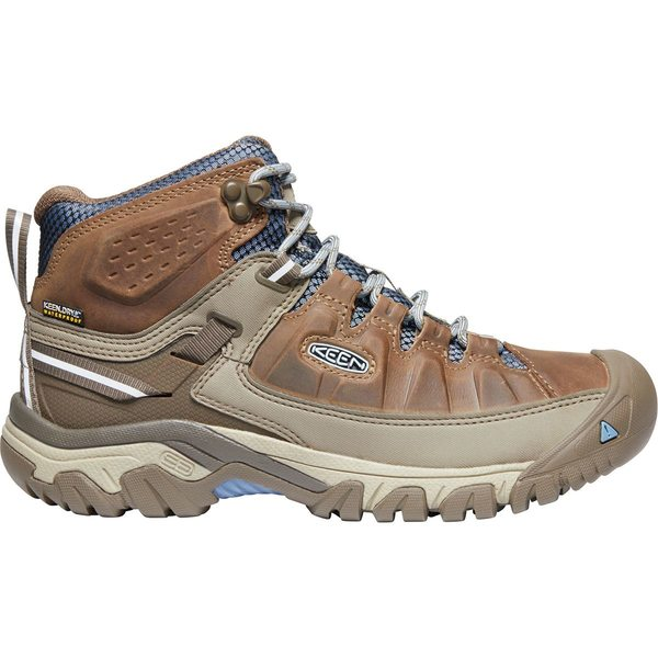 キーン レディース ハイキング スポーツ Targhee III Mid Waterproof Hiking Boot - Women's Brindle/Quiet Harbor