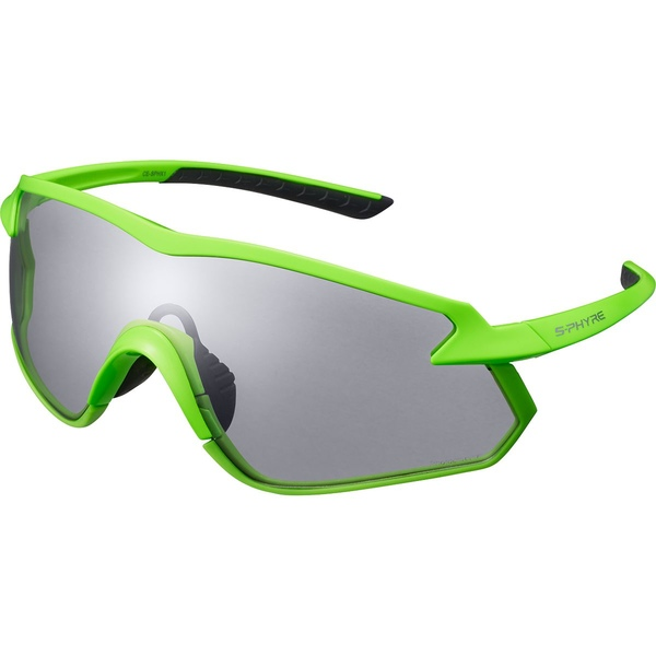 シマノ メンズ サングラス・アイウェア アクセサリー S-PHYRE X Cycling Sunglasses - CE-SPHX1 Neon Green/Photochromic D Grey