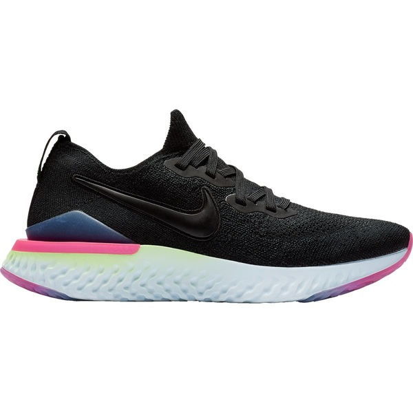 ナイキ レディース ランニング スポーツ Epic React Flyknit 2 Running Shoe Black/Black-sapphire-lime Blast