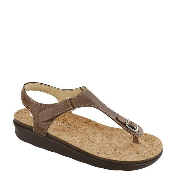 エスエーエス レディース サンダル シューズ Marina Leather Thong Sandals Brown