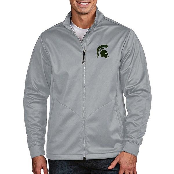 アンティグア メンズ ジャケット&ブルゾン アウター NCAA Golf Full-Zip Jacket Michigan State Spartans Silver