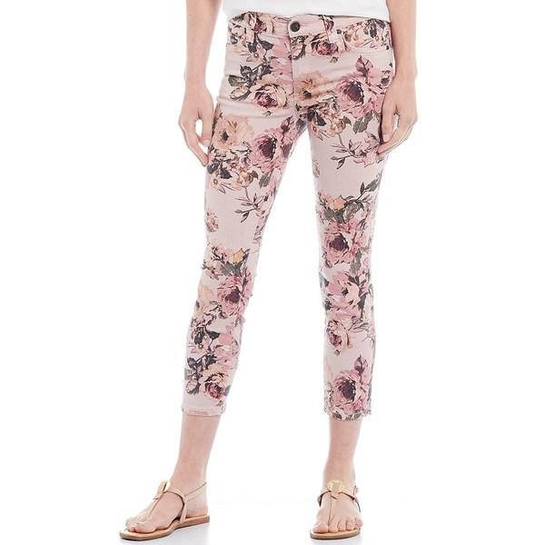 カットフロムザクロス レディース デニムパンツ ボトムス Connie Stretch Twill Floral Print Crop Skinny Jeans Rose