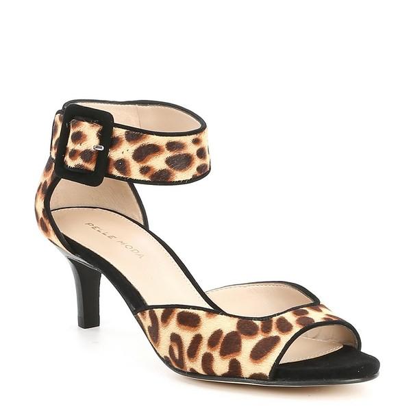 ペレモーダ レディース サンダル シューズ Berlin Leopard Print Calf Hair Sandals Leopard