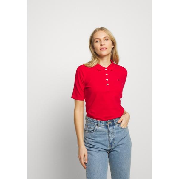 トミー ヒルフィガー レディース トップス ポロシャツ 祝日 primary 人気ブランド red 全商品無料サイズ交換 shirt POLO bazk0009 - Polo TH ESSENTIAL
