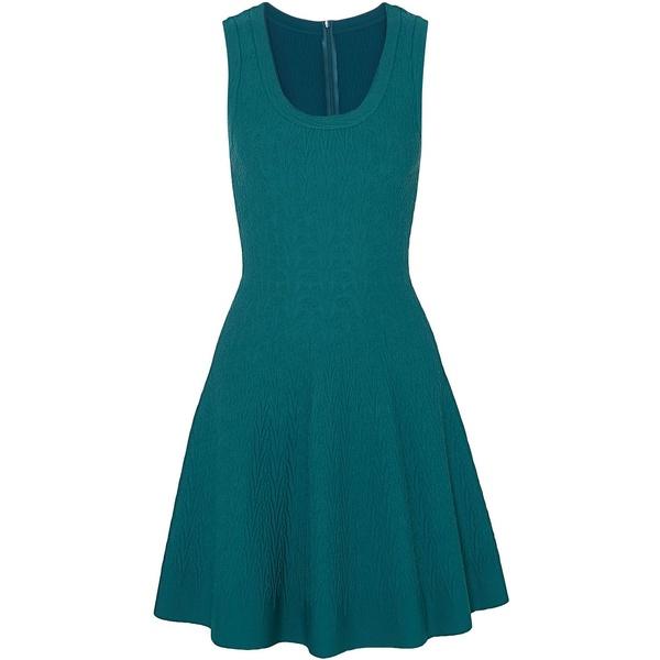 アラ レディース ワンピース トップス Jacquard-knit mini dress Teal