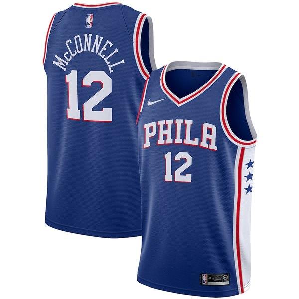 ナイキ メンズ シャツ トップス T.J. McConnell Philadelphia 76ers Nike Replica Swingman Jersey - Icon Edition Royal