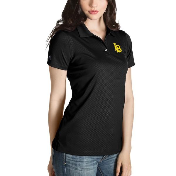 アンティグア レディース ポロシャツ トップス Long Beach State 49ers Antigua Women's Desert Dry Inspire Polo Black