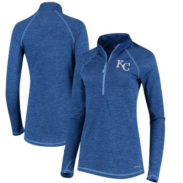 マジェスティック レディース ジャケット&ブルゾン アウター Kansas City Royals Majestic Women's Don't Stop Trying Cool Base Half-Zip Pullover Jacket Royal