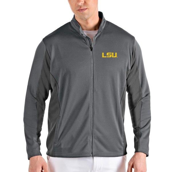 アンティグア メンズ ジャケット&ブルゾン アウター LSU Tigers Antigua Passage Full-Zip Jacket Gray/Charcoal