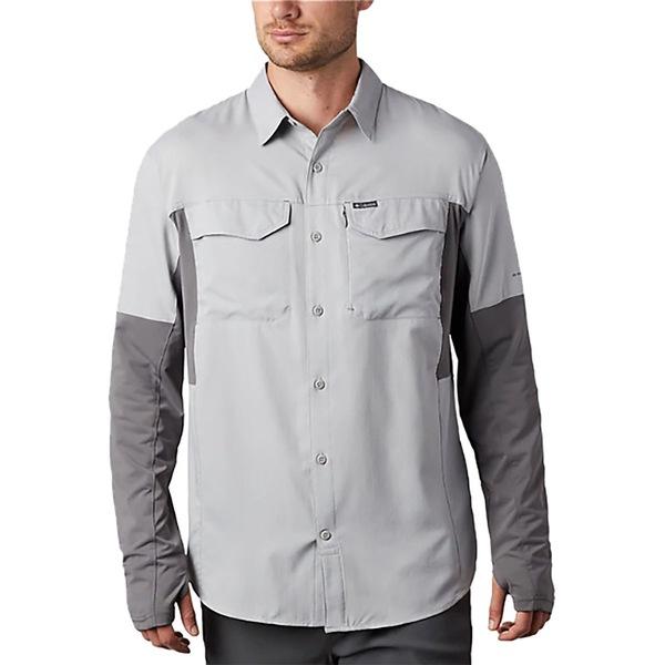 コロンビア メンズ シャツ トップス Silver Ridge Lite Hybrid Shirt - Men's Columbia Grey/City Grey
