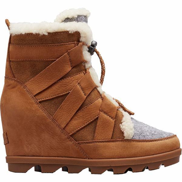 ソレル レディース ブーツ&レインブーツ シューズ Joan Of Arctic Wedge II Cozy Boot - Women's Camel Brown