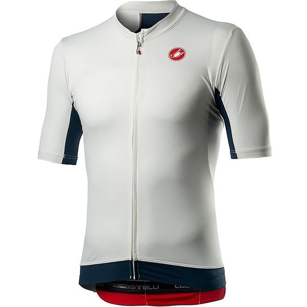 カステリ メンズ サイクリング スポーツ Vantaggio Jersey - Men's Ivory/Dark Infinity Blue