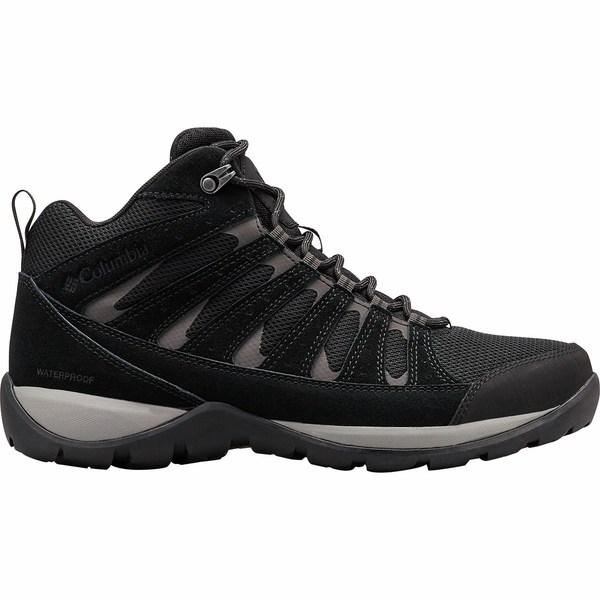 コロンビア メンズ ハイキング スポーツ Redmond V2 Mid WP Hiking Boot - Men's Black/Dark Grey