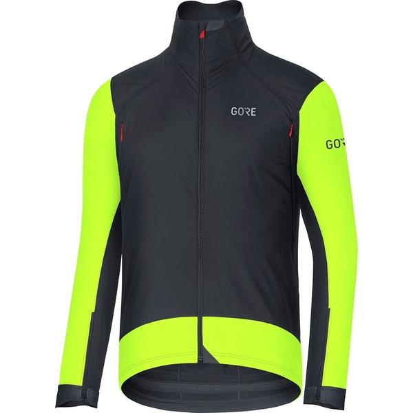 ゴアウェア メンズ サイクリング スポーツ C7 Gore Windstopper Pro Jacket - Men's Black/Neon Yellow