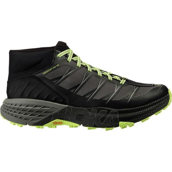 ホッカオネオネ メンズ スニーカー シューズ Speedgoat Mid WP Trail Run Shoe - Men's Black/Steel Gray
