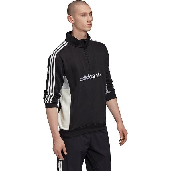アディダス メンズ ジャケット&ブルゾン アウター Mod 1/4 Zip - Men's Black/Clear Onix/White/Off White