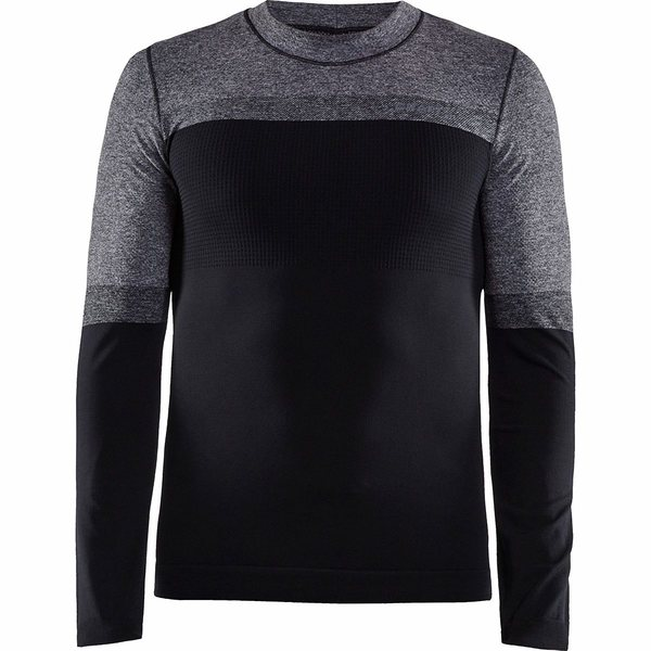 クラフト メンズ シャツ トップス Warm Intensity Crew Neck Top - Men's Apshalt/Dark Grey
